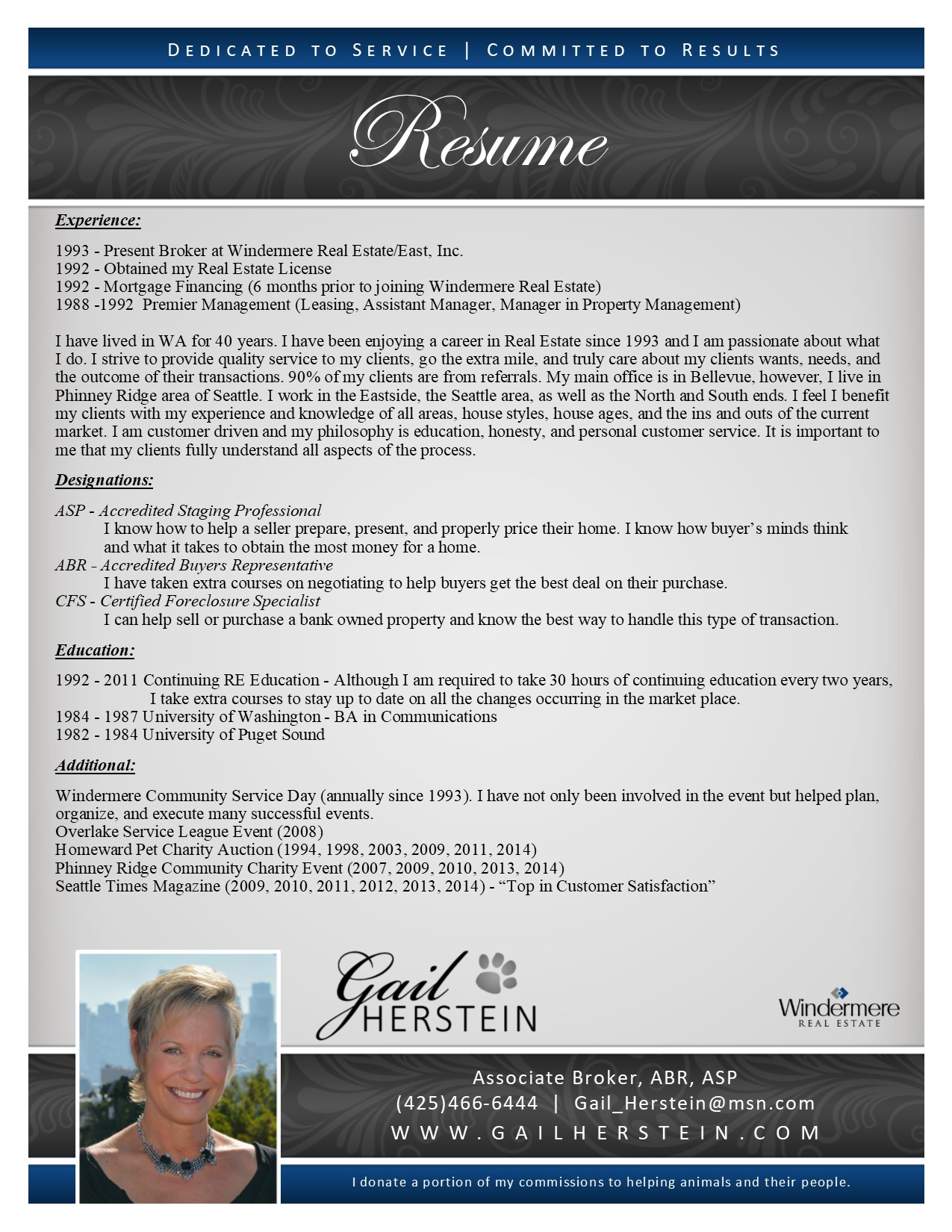 Resume - Gail R. Herstein